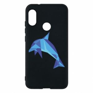 Phone case for Mi A2 Lite Dolphin abstraction - PrintSalon
