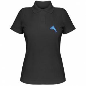 Women's Polo shirt Dolphin abstraction - PrintSalon