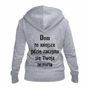 Women's zip up hoodies Home is the place ... - PrintSalon