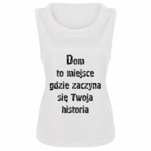 Women's t-shirt Home is the place ... - PrintSalon