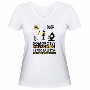 Women's V-neck t-shirt Homegrown scientist