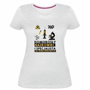 Damska premium koszulka Domorosły naukowiec