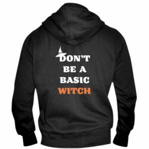 Męska bluza z kapturem na zamek Don't be a basic witch
