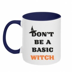 Two-toned mug Don't be a basic witch