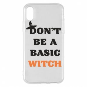 Etui na iPhone X/Xs Don't be a basic witch