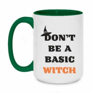 Two-toned mug 450ml Don't be a basic witch