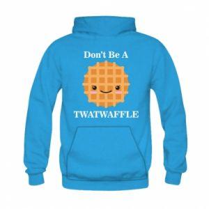 Bluza z kapturem dziecięca Don't be a twaffle