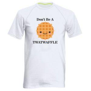Koszulka sportowa męska Don't be a twaffle