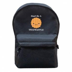 Plecak z przednią kieszenią Don't be a twaffle