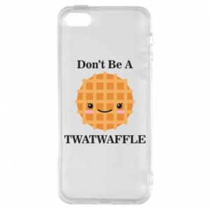 Etui na iPhone 5/5S/SE Don't be a twaffle