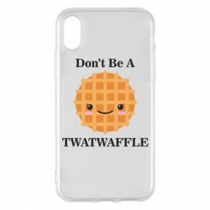 Etui na iPhone X/Xs Don't be a twaffle