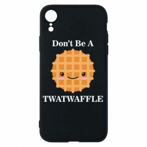 Etui na iPhone XR Don't be a twaffle