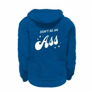 Kid's zipped hoodie % print% Don't be an ass