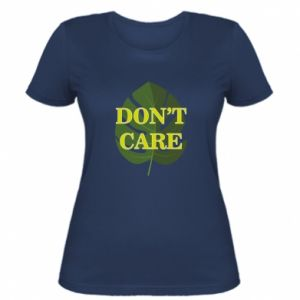 Damska koszulka Don't care leaf