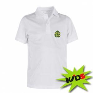 Koszulka polo dziecięca Don't care leaf