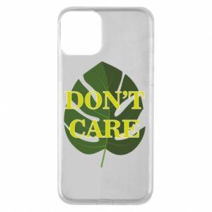 Etui na iPhone 11 Don't care leaf