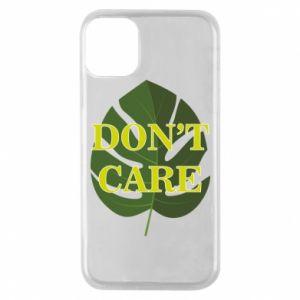 Etui na iPhone 11 Pro Don't care leaf