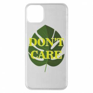 Etui na iPhone 11 Pro Max Don't care leaf