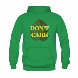 Bluza z kapturem dziecięca Don't care leaf
