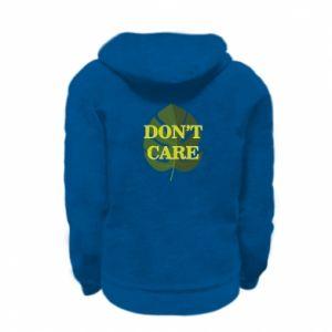 Bluza na zamek dziecięca Don't care leaf