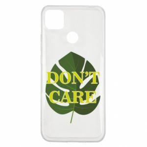 Etui na Xiaomi Redmi 9c Don't care leaf