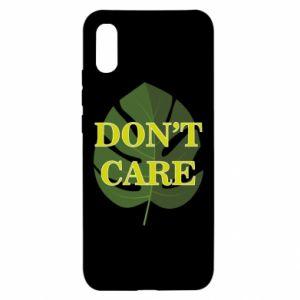 Etui na Xiaomi Redmi 9a Don't care leaf