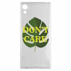 Etui na Sony Xperia XA1 Don't care leaf