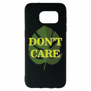 Etui na Samsung S7 EDGE Don't care leaf