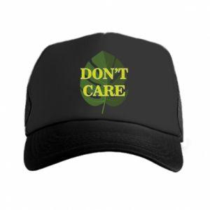 Czapka trucker Don't care leaf