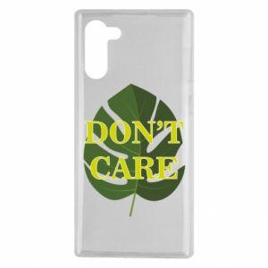 Etui na Samsung Note 10 Don't care leaf