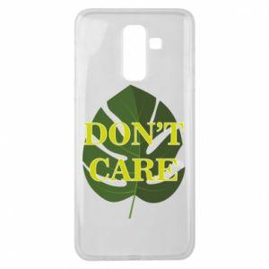 Etui na Samsung J8 2018 Don't care leaf