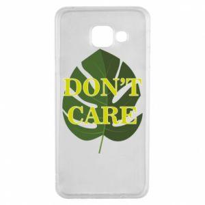 Etui na Samsung A3 2016 Don't care leaf