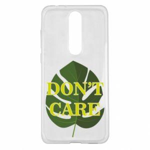 Etui na Nokia 5.1 Plus Don't care leaf