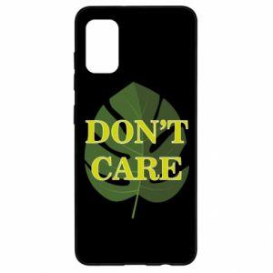 Etui na Samsung A41 Don't care leaf