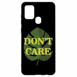 Etui na Samsung A21s Don't care leaf