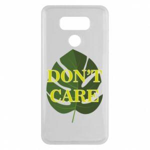 Etui na LG G6 Don't care leaf