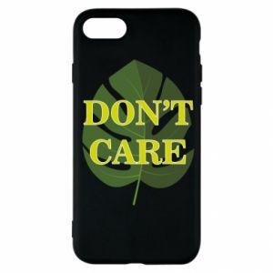 Etui na iPhone SE 2020 Don't care leaf