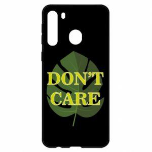 Etui na Samsung A21 Don't care leaf