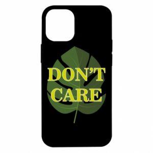 Etui na iPhone 12 Mini Don't care leaf