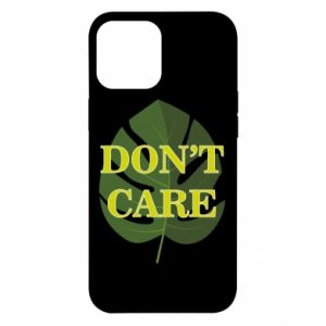 Etui na iPhone 12 Pro Max Don't care leaf