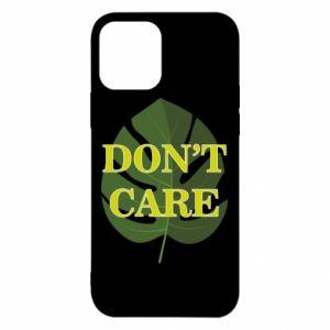 Etui na iPhone 12/12 Pro Don't care leaf