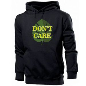 Men's hoodie Don't care leaf