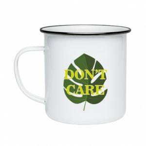 Kubek emaliowany Don't care leaf