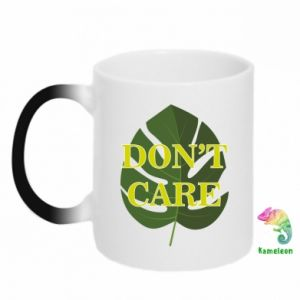 Kubek-magiczny Don't care leaf