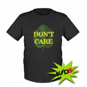 Dziecięcy T-shirt Don't care leaf