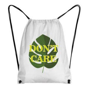 Plecak-worek Don't care leaf