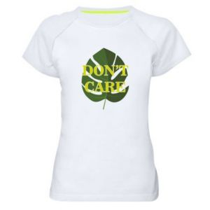 Koszulka sportowa damska Don't care leaf