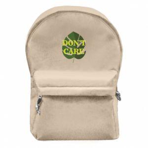 Plecak z przednią kieszenią Don't care leaf