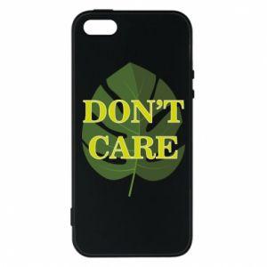 Etui na iPhone 5/5S/SE Don't care leaf