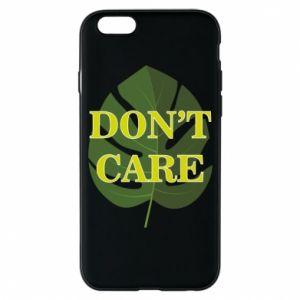 Etui na iPhone 6/6S Don't care leaf